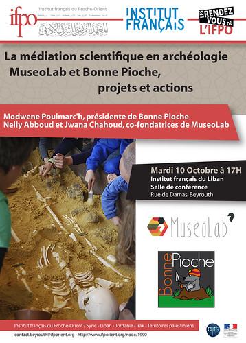 La médiation scientifique en archéologie : MuseoLab et Bonne Pioche, projets et actions