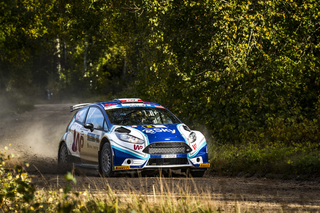08 Habaj Lukaszand Dymurski Daniel, Rallytechnology, Ford Fiesta R5 action during the 2017 European Rally Championship ERC Liepaja rally,  from october 6 to 8, at Liepaja, Lettonie - Photo Gregory Lenormand / DPPI