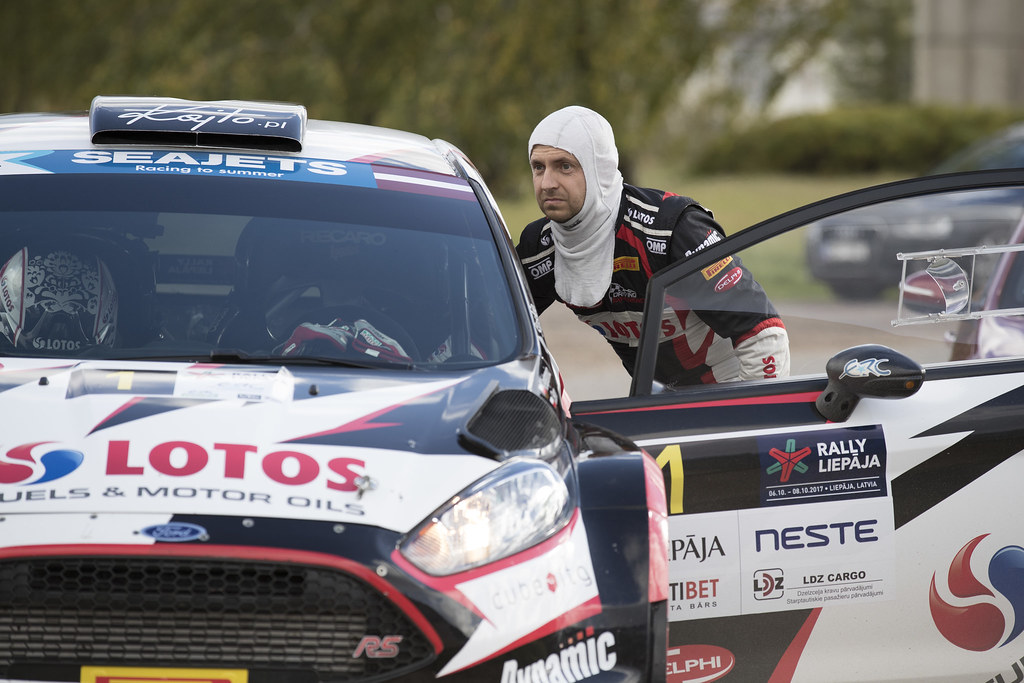 Kajetanowicz Kajetan and Baran Jarosław, Lotos Rally Team, Ford Fiesta R5 ambiance portrait during the 2017 European Rally Championship ERC Liepaja rally,  from october 6 to 8, at Liepaja, Lettonie - Photo Gregory Lenormand / DPPI