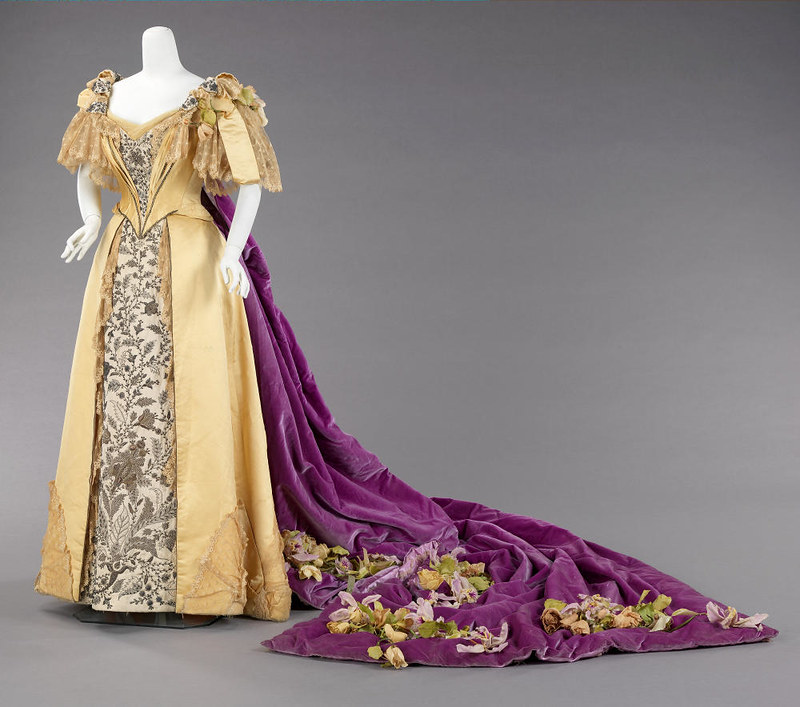 1896 Court Presentation Ensemble. American. Silk, metal, cotton, leather