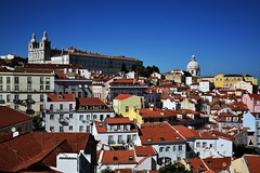Lisbon Panorama From Miradouro Das Portas Do Sol - Portugal