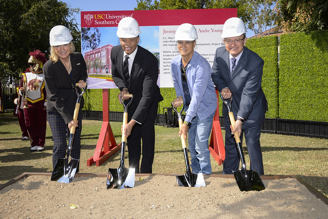 USC Iovine and Young Hall Groundbreaking Celebration 10-11-17