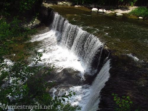 Seneca Mills Falls from above along the Keuka Outlet Trail between Penn Yan and Dresden, New York