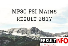 MPSC PSI Mains Result 2017
