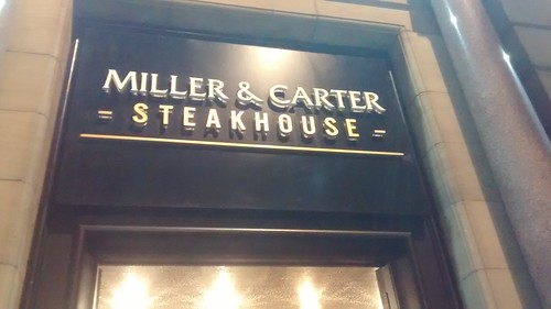 Miller and Carter Steakhouse Newcastle Oct 17 14