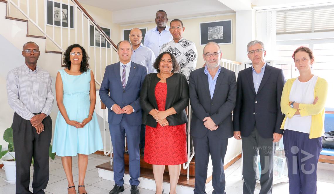 Uni-CV recebe visita da delegação da Universidade de Vigo