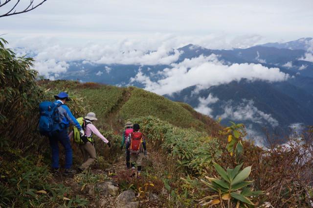 "Mountain-climbing path to The Mt. ""ARASHIMADAKE"""