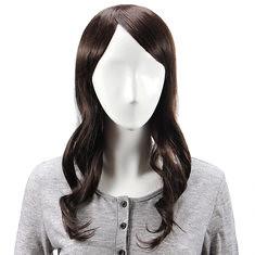 Virgin Remy Medium Brown Side Bang Long Capless Mono Top Human Hair Wig (987196) #Banggood