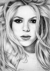 Shakira in charcoal