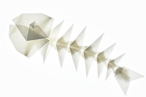 Origami Fish Skeleton (Makoto Yamaguchi)