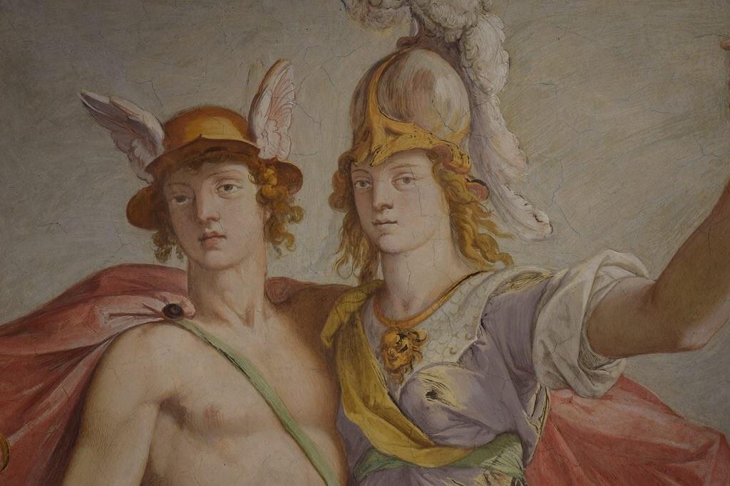 Detalle de uno de los frescos