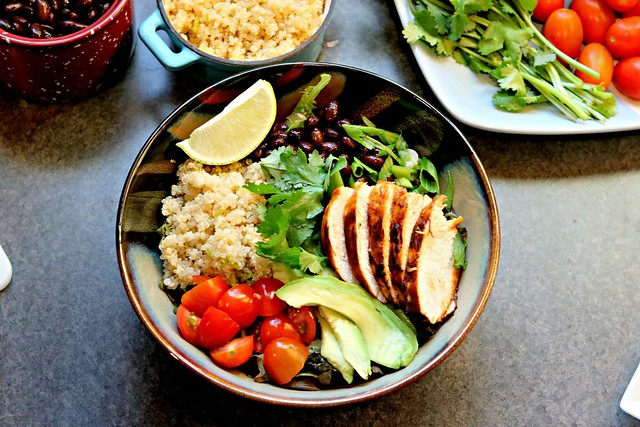 Honey Chipotle Chicken Bowls with Lime Quinoa