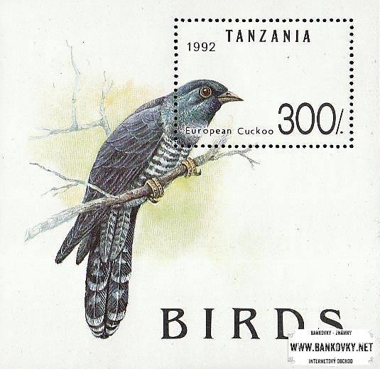Známky Tanzánia 1992 Vtáci, nerazítkovaný MNH hárček
