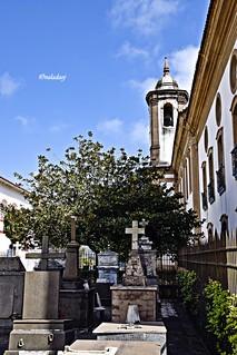 Brasil MG - Ouro Preto - Cemitério e Igreja de N. S. do Carmo!