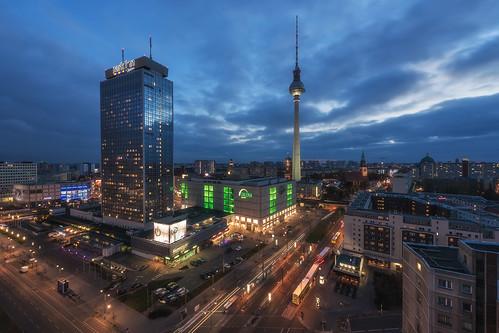 Berlin - Skyline Alexanderplatz Blue Hour