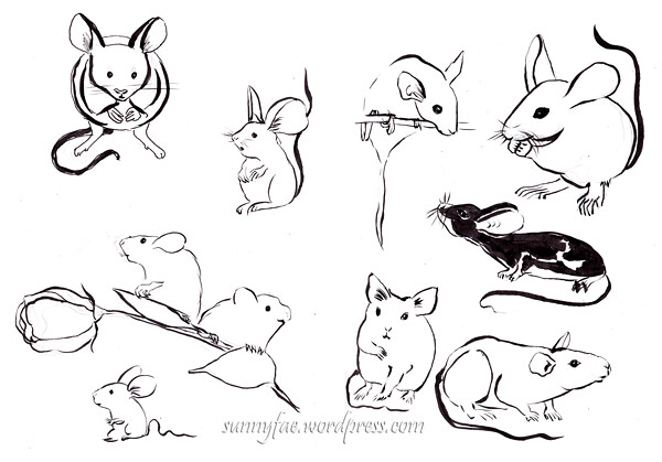 inktober 2017 mouse idea sketches