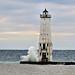 Frankfort, MI lighthouse-heavy surf