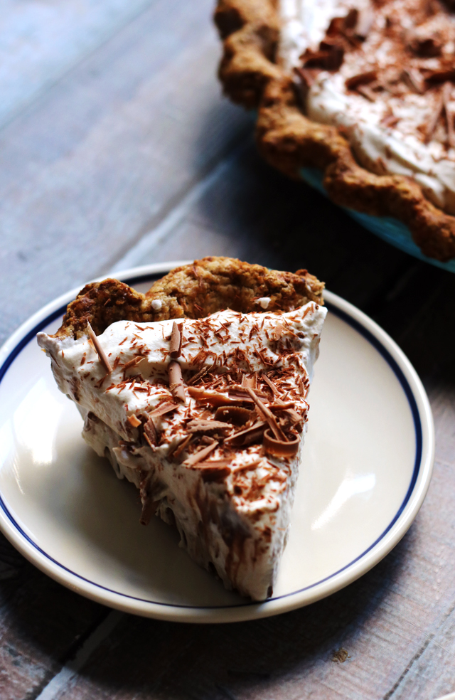 Silk Chocolate Cream Pie with Salty Pecan Crust