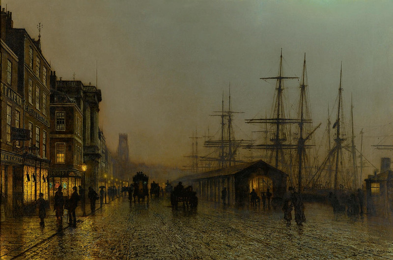 Glasgow, Saturday Night by John Atkinson Grimshaw