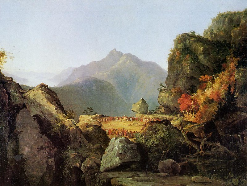 Landscape Scene from 'The Last of the Mohicans' by Thomas Cole, 1827