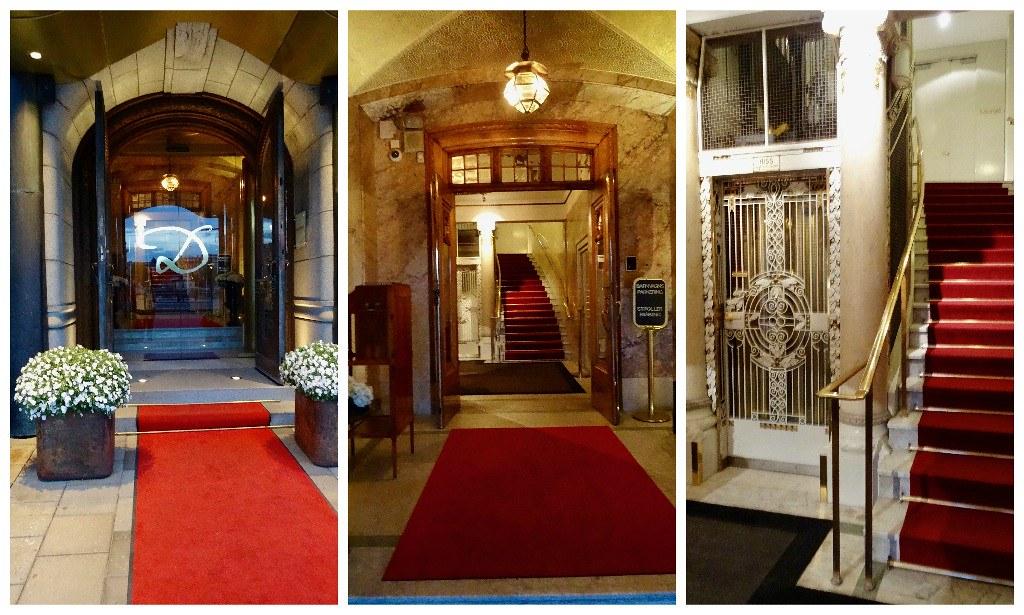 Entering the Hotel Diplomat Stockholm