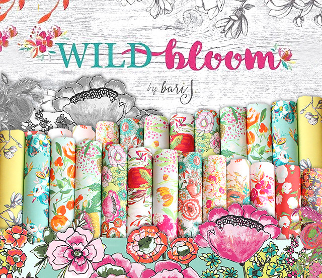 Art Gallery Fabrics Wild Bloom Collection by Bari. J