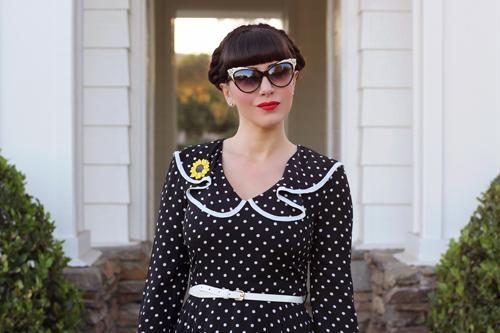 Joanie Clothing Penny Polka Dot Frill Dress