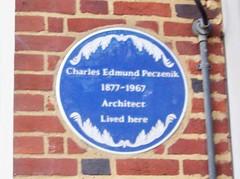Photo of Charles Edmund Peczenik blue plaque