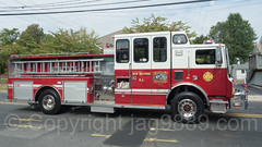 New Milford NJ Fire Truck, 2017 Northern Valley Fire Chiefs Parade, Northvale, New Jersey
