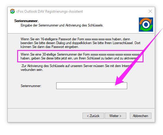 cFos Outlook DAV mit 30 stelliger Seriennummer registrieren 36966039993_36833e24aa_z