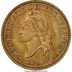 Original Confederate States of America Cent obverse