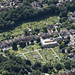 The Spring Road / Alexandra Road allotments in Ipswich - aerial uk