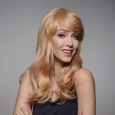 8 Colors Long Human Hair Wig Side Bang Virgin Remy Mono Top Capless 58cm (1063433) #Banggood