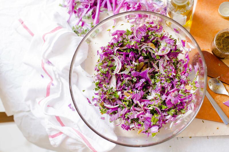 Flowering Kale Salad