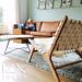 vintage loungestoel en salontafel