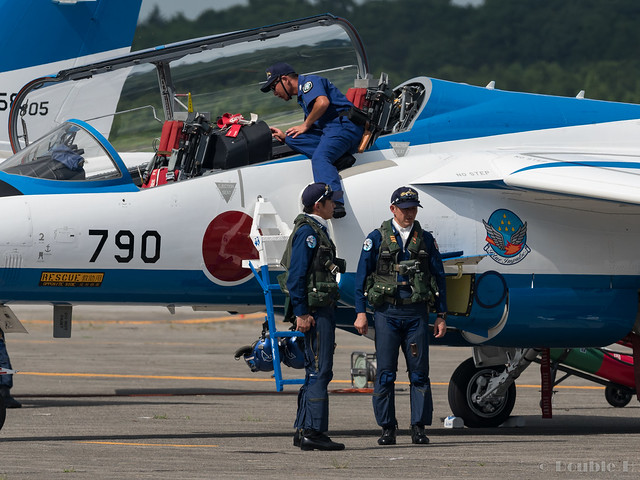 JASDF Chitose AB Airshow 2017 (143) the pilot of Blue Impluse