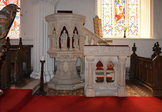 pulpit and reading desk (James Williams of Ipswich, 1860s)