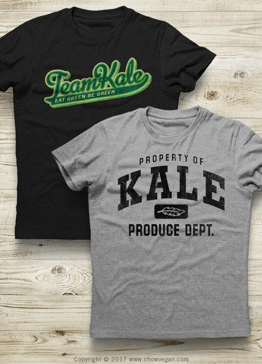 Kale T-shirts | Chow Vegan