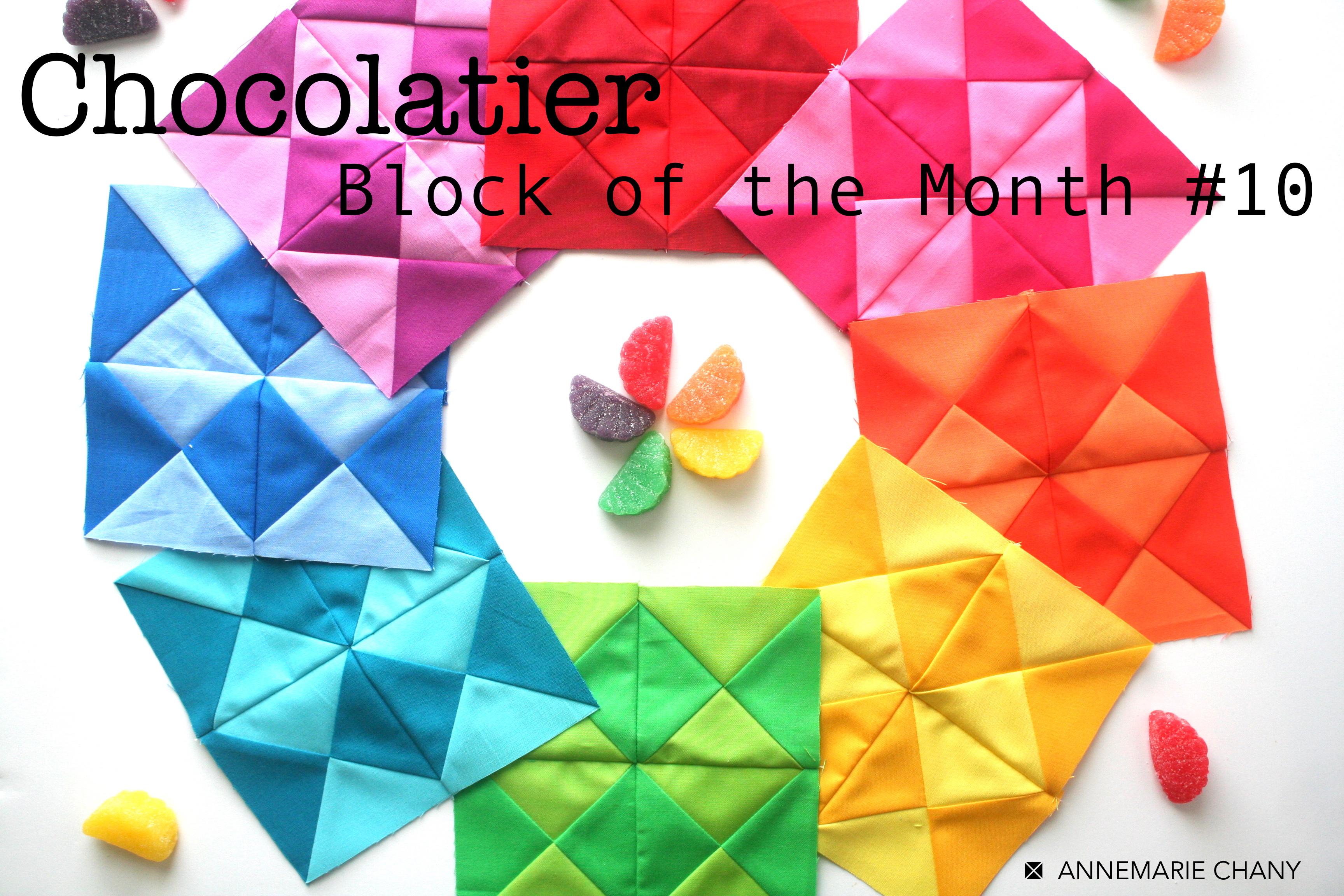 Chocolatier Block of the Month Argyle Hourglass Blocks