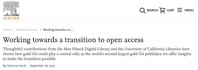 Screenshot: Working towards open access