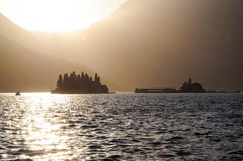 montenegro perast sunset mediterranean island