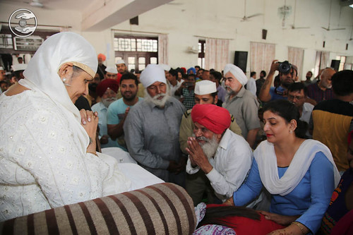 Devotees seeking blessings at Sant Nirankari Satsang Bhawan, Amritsar