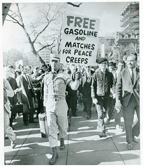 'Free gasoline and matches for peace creeps' - 1965