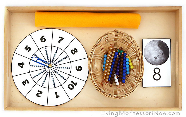 Moon Spinner Activity with Bead Bars - Counting or Addition