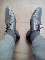Black cap toe shoes 2