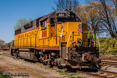UP 881 | EMD GP38-2 | UP Memphis Subdivision