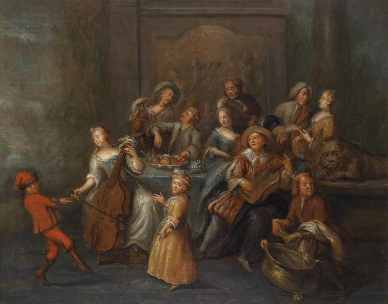 Nicolaes Verkolje - Musizierende Gesellschaft (c.1690)