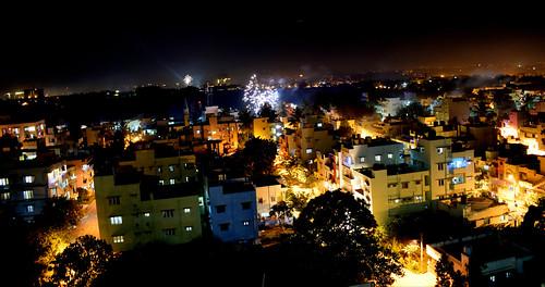 fireworks crackers light smoke diwali deepavali festival festivaloflights longexposure color bright aerial view india hindu