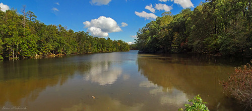 smack53 stonemountainstatepark georgia water river lake pond reflections clouds trees autumn autumnseason fall fallseason scenic scenery outdoors outside canon powershot sx150is canonpowershotsx150is panorama