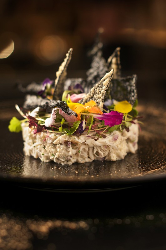 SO Sofitel: Spanner Crab_ Wasabi Mayonnaise_ Seaweed Crackers_ Edible Flowers_ Herbs